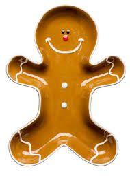 SAGAFORM Winter Ginger  Porcelánová servírovací miska ve tvaru perníčku. Dekorativní doplňky na vánoční stůl - k servírování svařeného vína a drobných pochutinek.