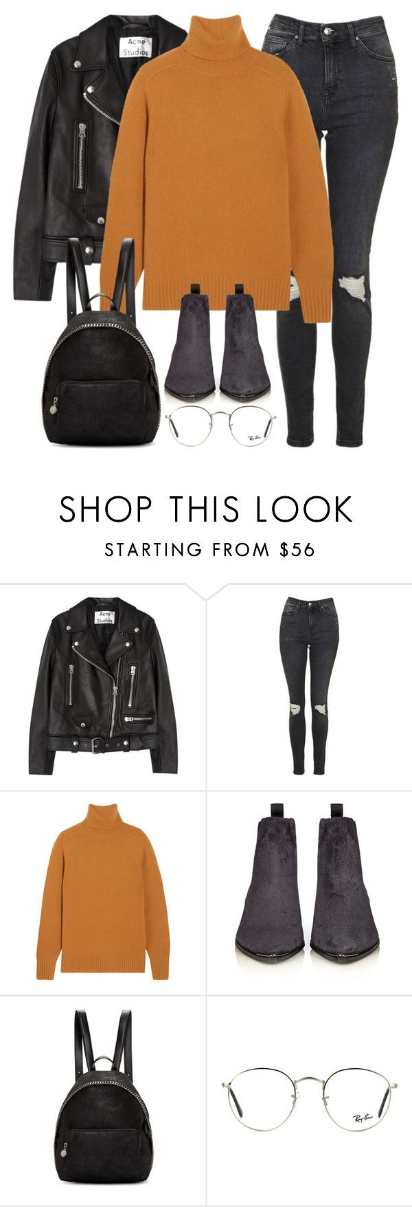 """Untitled #2878"" by elenaday on Polyvore featuring Acne Studios, Topshop, Chloé, STELLA McCARTNEY and Ray-Ban"