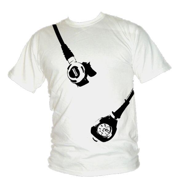 Scuba Diving Regulator & Pressure Gauge T-Shirt