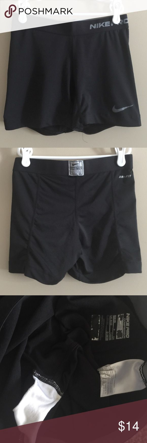 Nike Compression shorts Great condition! No wear at any seams. Graphic screen-prints are slightly worn from washing. These will last you! Nike Pants Leggings