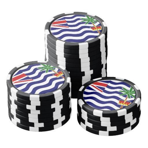 British Indian Ocean Territory, flag Set Of Poker Chips