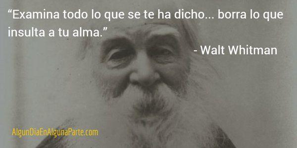 """31 de mayo de 1819 #TalDíaComoHoy nació el poeta y humanista estadounidense Walt Whitman, autor de """"Hojas de hierba"""""""