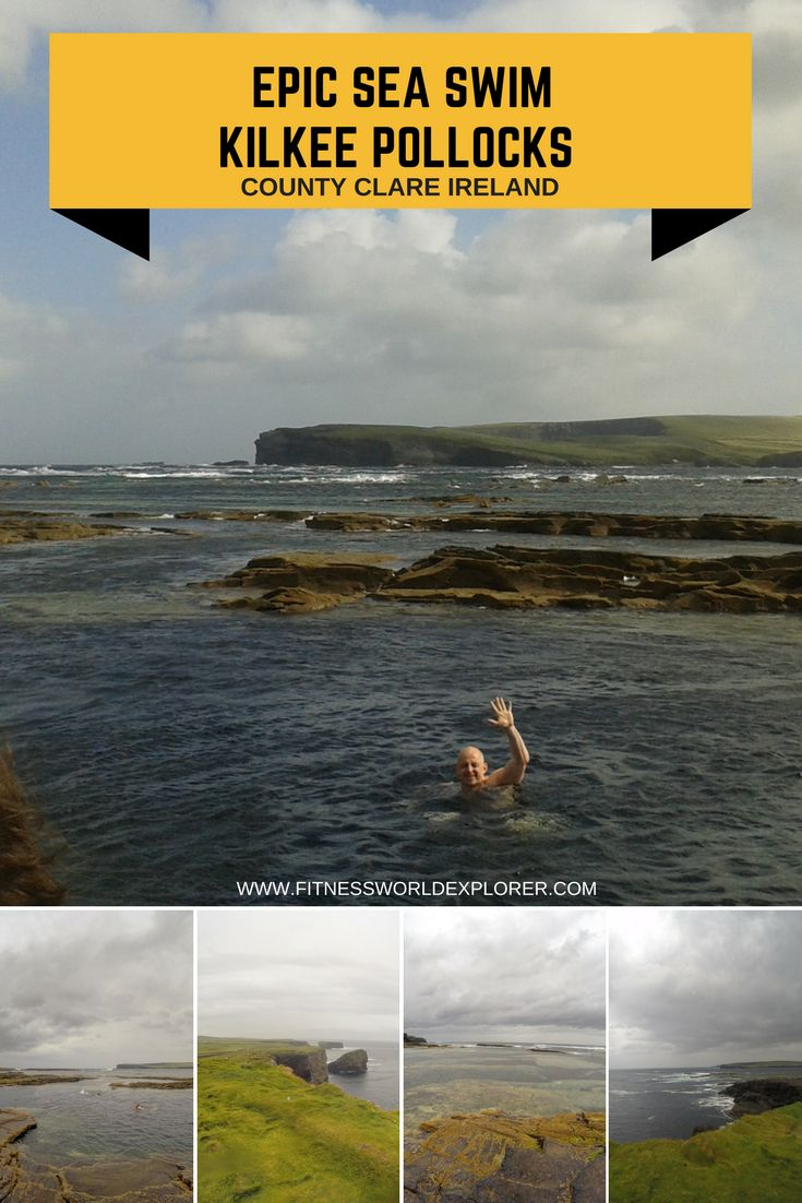 Experience the incredible County Clare scenery whilst taking a Sea Swim in the Famous Kilkee Pollocks