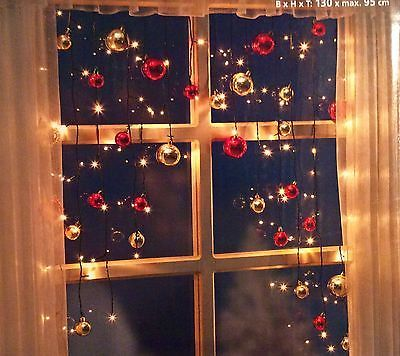 LED Lichtervorhang Kugeln NEU 130 cm breit für Innen 70 LED ´s Christmas