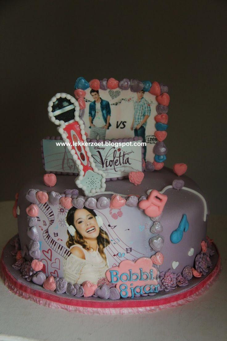 lekker zoet: Violetta taart voor Bobbi 8 jaar..