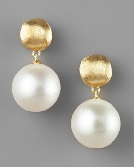 Marco Bicego Pearl-Drop Earrings...love these simple but elegant pearl drops