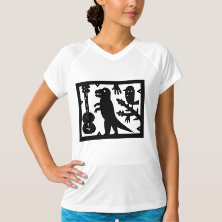 A Guitar, A Dinosaur, And A Bird T-Shirt - tap, personalize, buy right now!