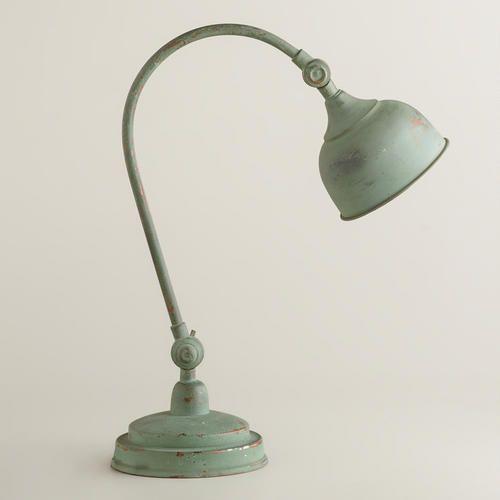 Oxidized Iron Task Lamp