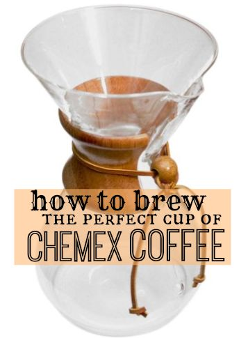 How to use a chemex coffee maker…enjoy a live demo!