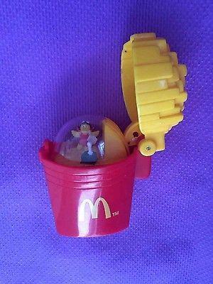 Vintage MC DONALDS McFries, McShake, Burger, Sundae - Polly Pocket like inside.