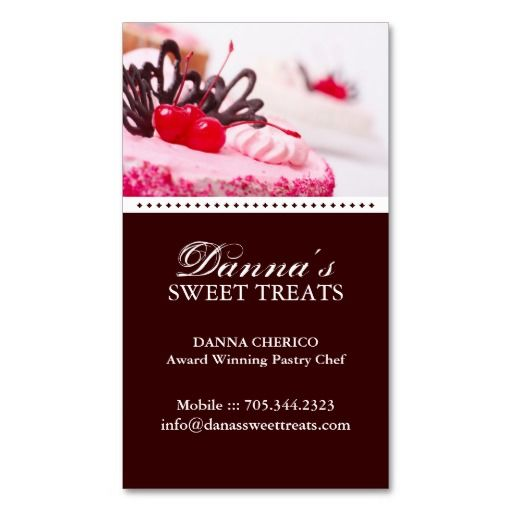 193 best sweet treats business cards images on pinterest cheer bakery business card colourmoves