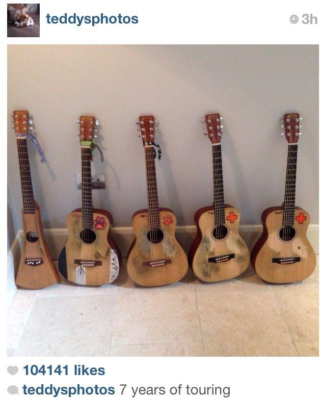 Ed Sheerans guitars! :D
