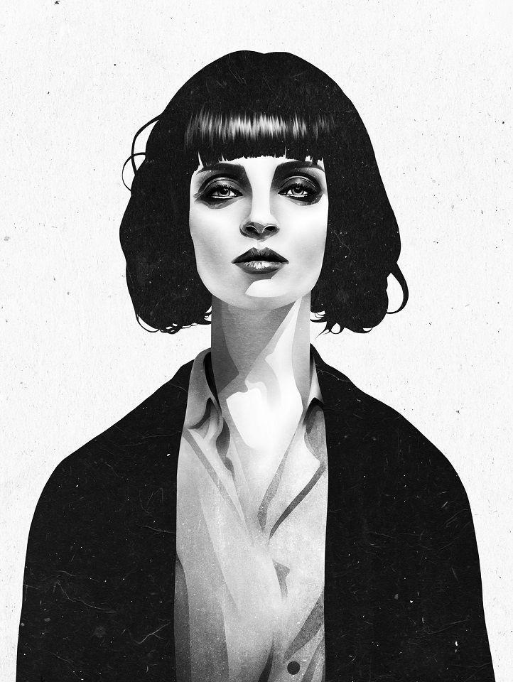 Plakát Mia Wallace z kultovního Pulp Fiction