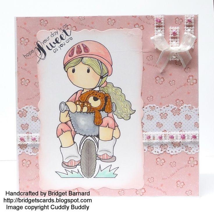 A card made using cuddly buddly digi stamp
