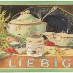 Liebig soup french vintage ad metal sign