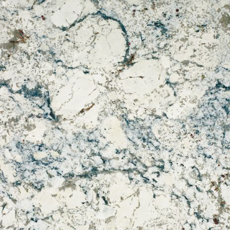 "This is the type of granite we have now in the laundry room - White Ice.  It is a lot of grey, white, touches of black and taupe/blue-ish.  Big ""chunks"" of white which I like.  Looks similar to a lot of marble varieties.  It is great!"