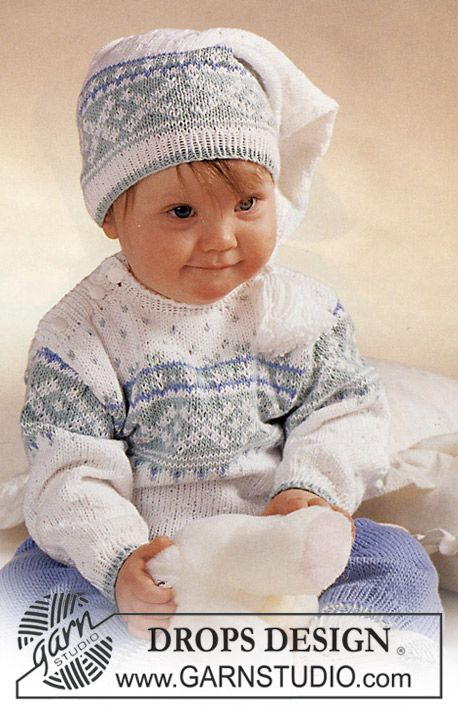 DROPS jumper with star pattern, pants, hat, socks and mittens. ~ DROPS Design