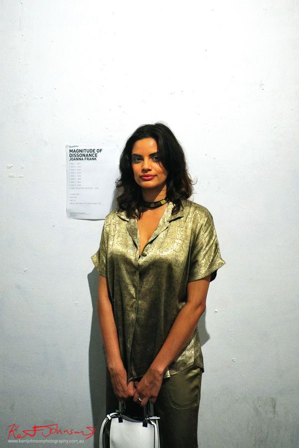 Portrait of artist Joanna Frank at Goodspace gallery for her show Magnitude of Dissonance. Photographed by Kent Johnson for Street Fashion Sydney.