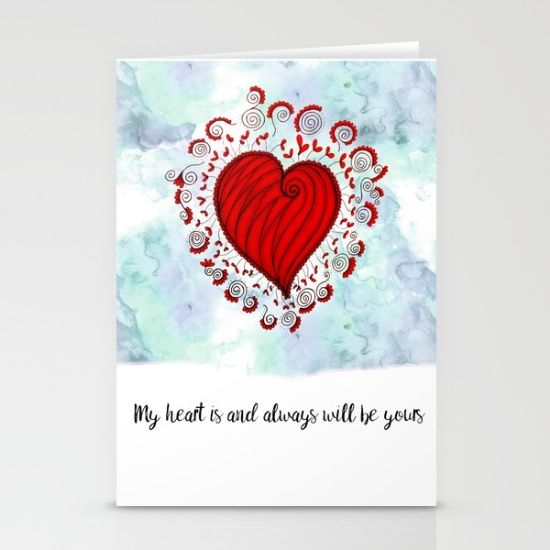 My heart is and always will be yours Stationery Cards  Love bears all things, believes all things, hopes all things, endure all things, LOVE NEVER ENDS