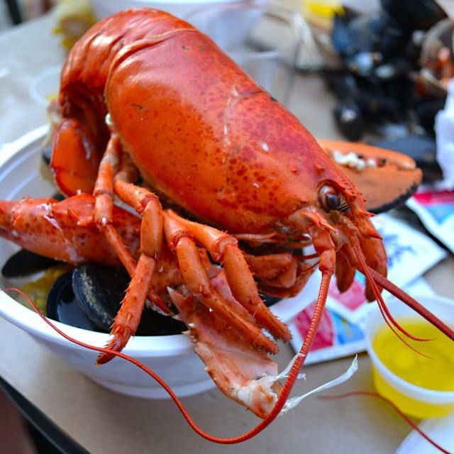 Clambake at Siegel Bros. Marketplace in Mount Kisco includes a pound lobster.