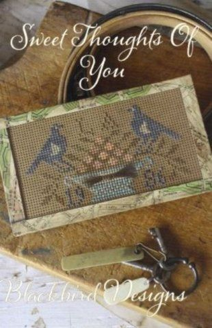 This new Blackbird Designs cross stitch pattern is stitched on perforated paper and then finished under glass but there is no reason not to ...