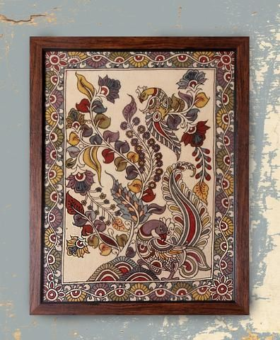 Royal Garden 1 - Original Kalamkari on Fabric
