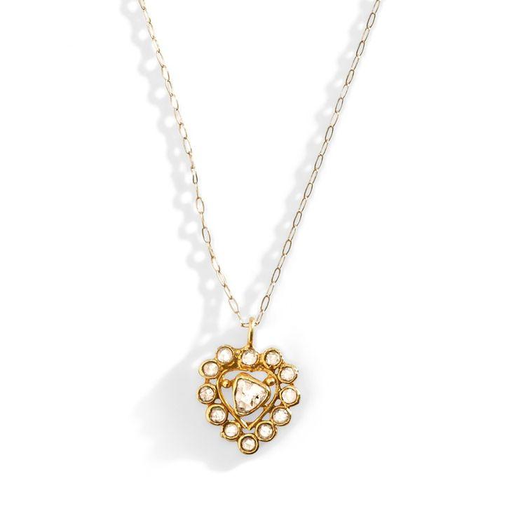 vintage diamond heart necklace vintage necklace diamond vintage necklace 14k gold necklace