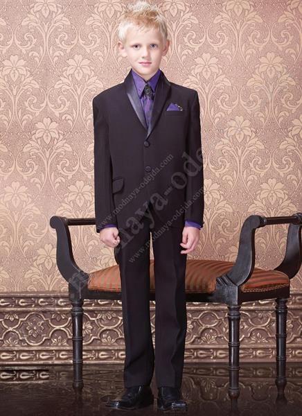 Фиолетовая рубашка и галстук фото