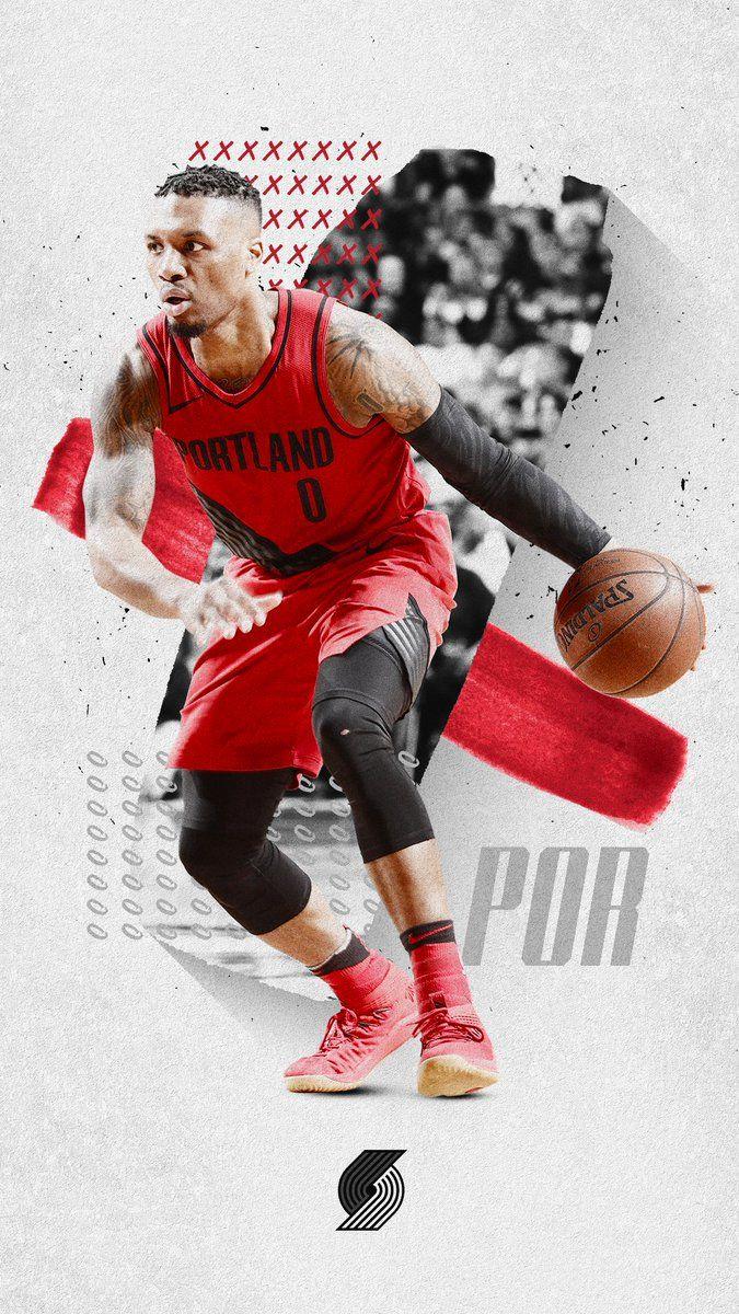 Meech Robinson On Twitter Nba Basketball Damian Lillard Nba Basketball Art