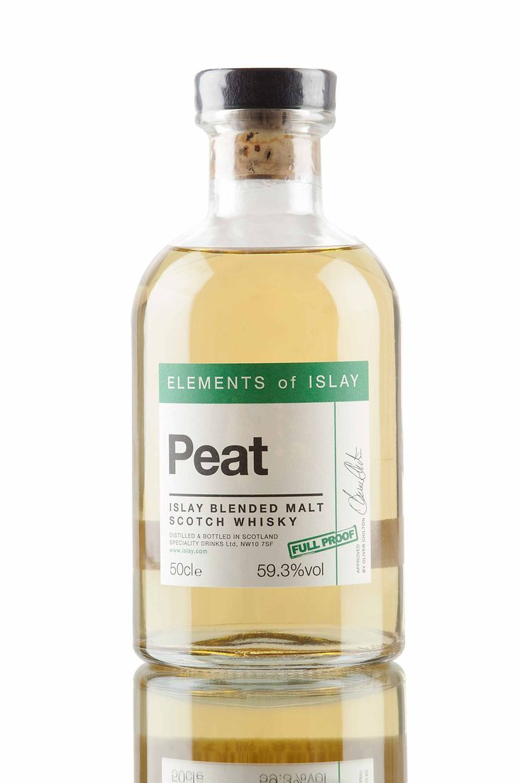 Peat is the latest release from the Elements of Islay series and is the first blended malt Scotch whisky within the range. An ongoing release created from whisky carefully selected from several distilleries on Islay and bottled at full proof, 59.3% vol.