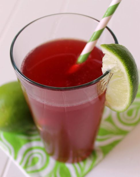 Cherry Lime Rickey Mocktail recipe - just four ingredients!