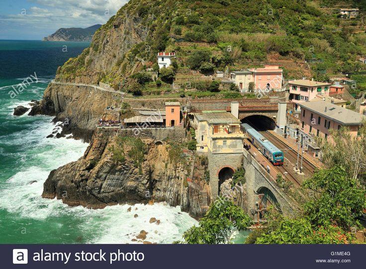 Tunnel Train Station Of Riomaggiore, Cinque Terre Stock Photo, Royalty Free…