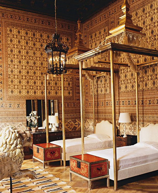 Спальня в палаццо Брандолини.