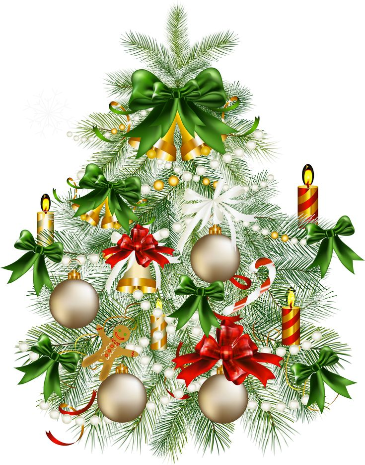 Christmas tree clip art large   Vintage weihnachten ...