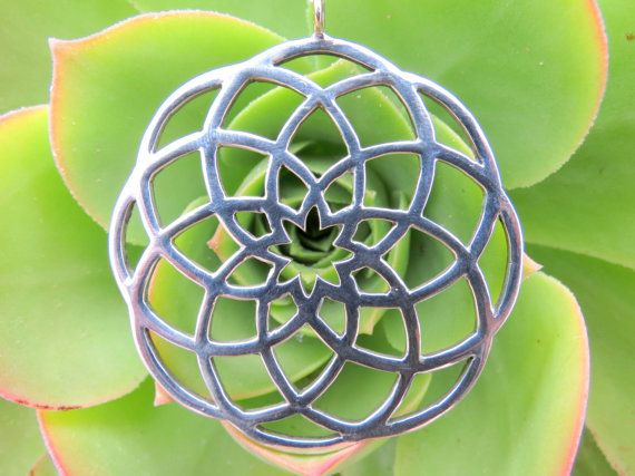 Sacred Geometry pendant by handrcafted in silver by Elfscraft