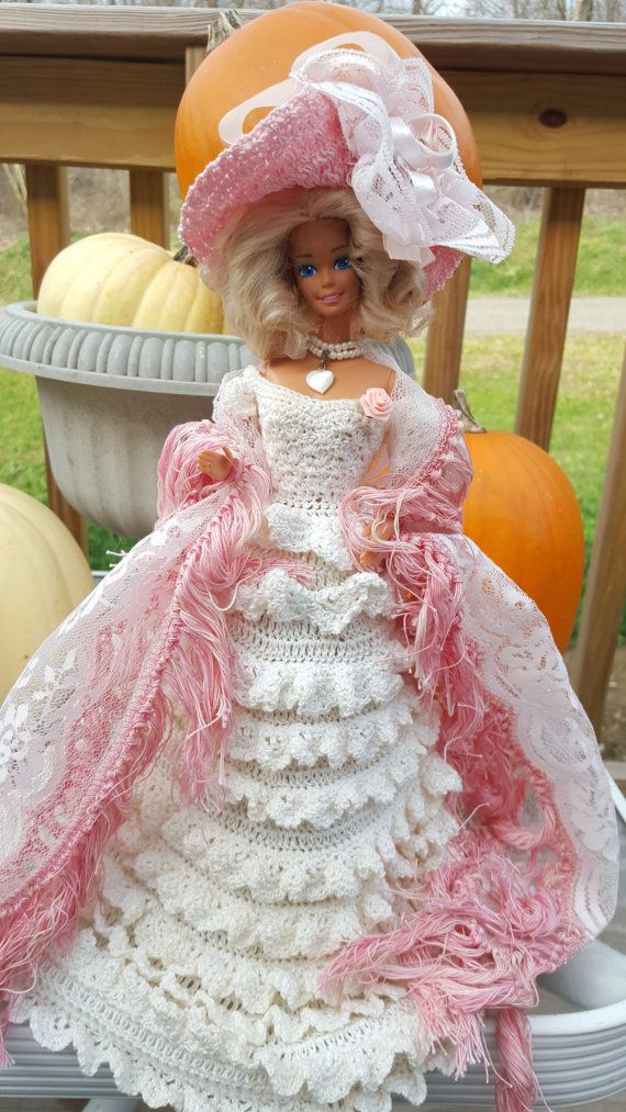 Hey, I found this really awesome Etsy listing at https://www.etsy.com/listing/258890124/crocheted-southern-belle-barbie-doll