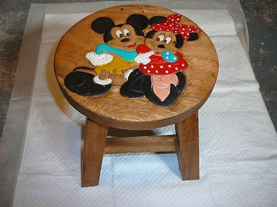 Mickey Mouse And Minnie Mouse Solid Wood Childu0027s Childrenu0027s Stool Chair