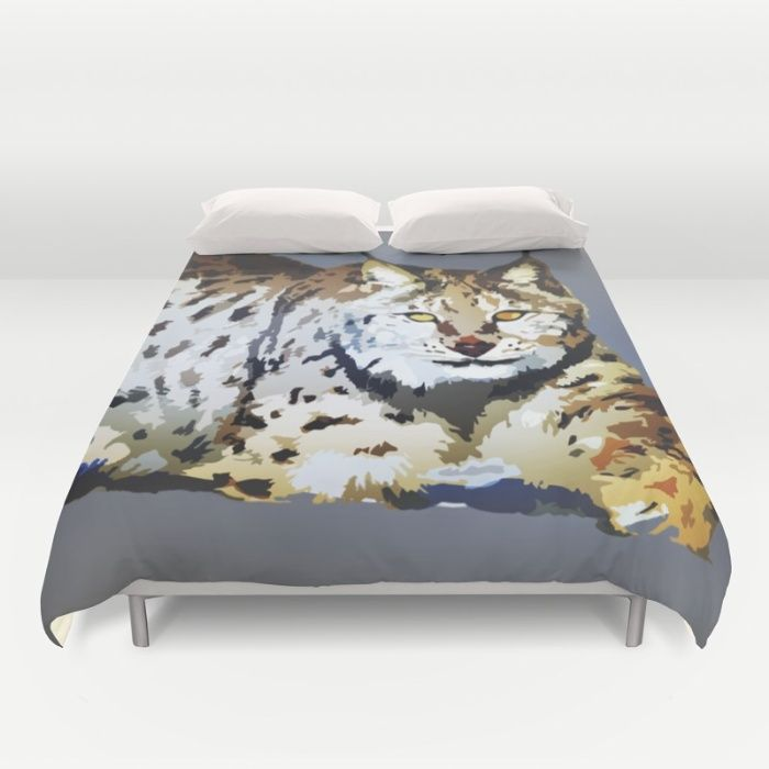 Lynx Duvet Cover by Animilustration | Society6