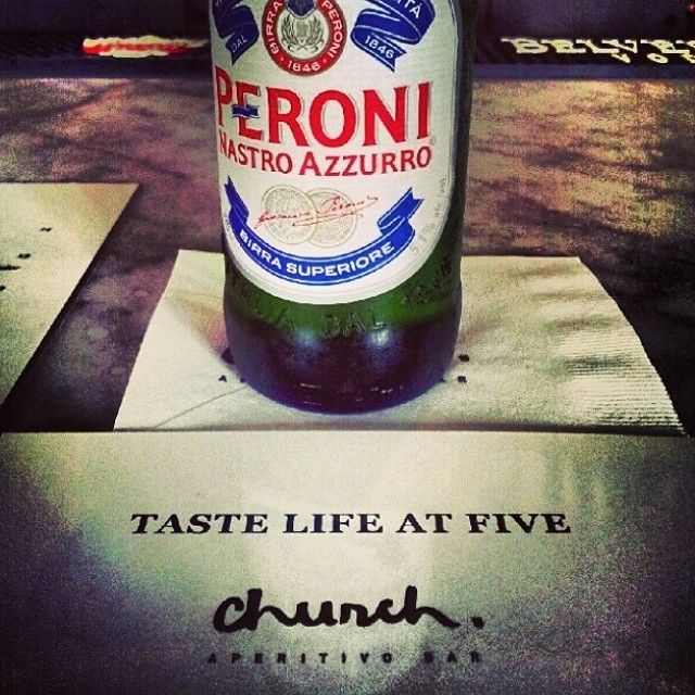 Hey Canada, the only thing we want cold is our Peroni. - Church Aperitivo Hour #toronto #queenwest #aperitivohour