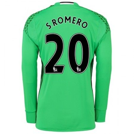 Manchester United 16-17 Keeper Sergio Romero 20 Hjemmedrakt Langermet.  http://. Manchester UnitedSam Johnstone