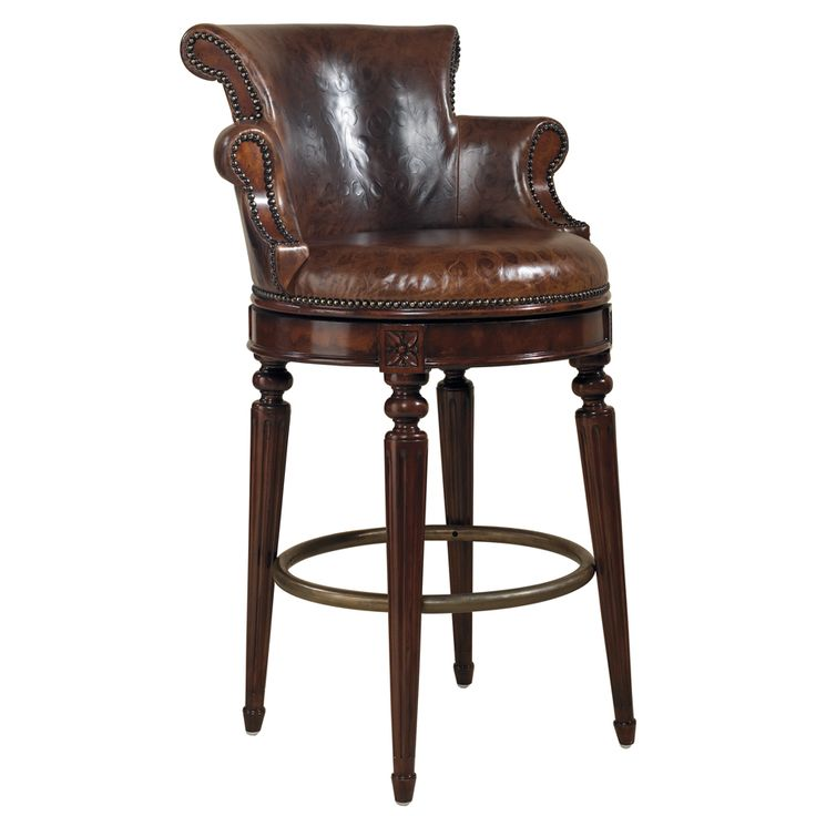Furniture the best beautiful leather swivel bar stool with for Kitchen swivel bar stools