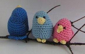 kostenlose Häkelanleitung Amigurumi kleine Vögel
