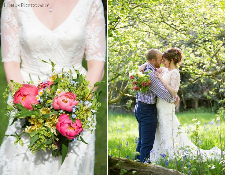 Rustic country boho styled wedding wild flowes and country wedding walks