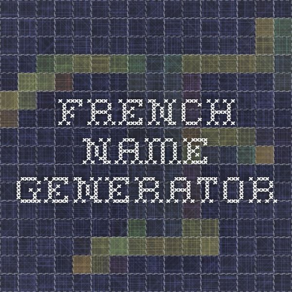 French name generator