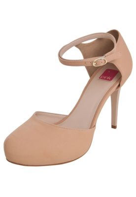Scarpin Pink Connection Meia Pata Nude