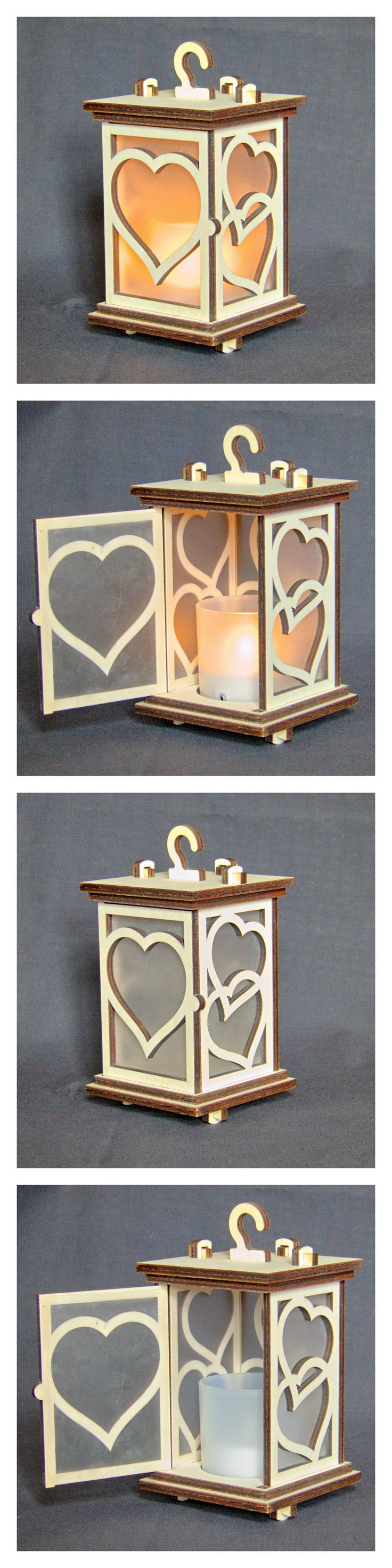 Larger than my tea light lanterns at 18cm (about 7 inches) tall including the hook.