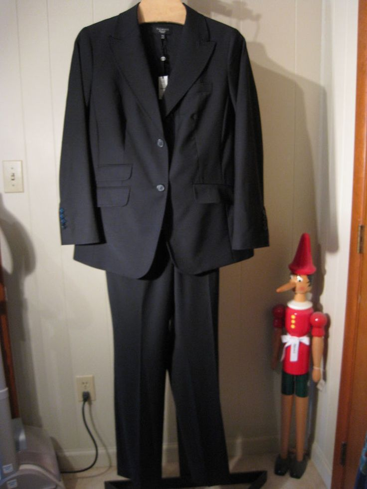 MISSES SEASONLESS WOOL KATE HERITAGE FIT PANT SUIT TALBOTS 2 16 $318 #Talbots #PantSuit