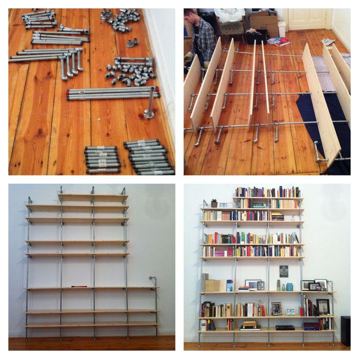 Diy Industrial Decor: DIY Plumbing Pipes Shelf