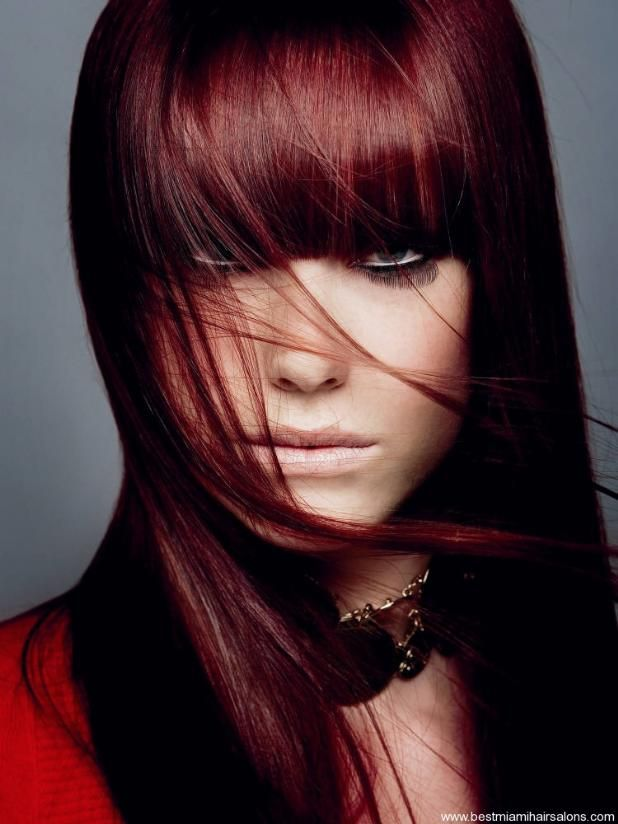Dark red brown hair, love this color too