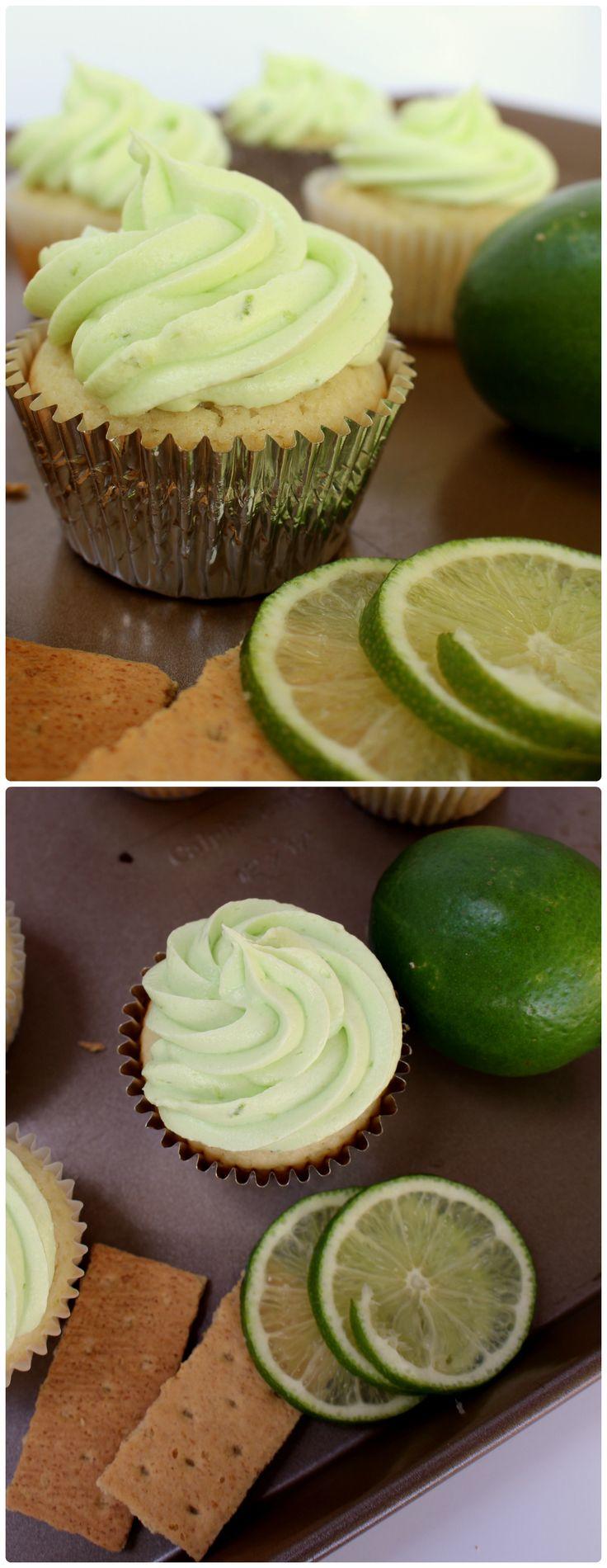 Key lime Pie Cupcakes   www.chocolatewithgrace.com   #cupcake #recipe #keylime